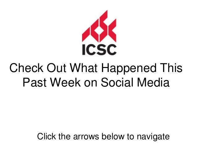 Check Out What Happened This  Past Week on Social Media    Click the arrows below to navigate