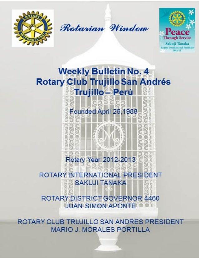 Weekly bulletin no. 4 r.c. trujillo san andres