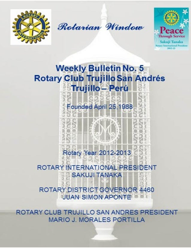 Rotarian WindowN° 05                     1