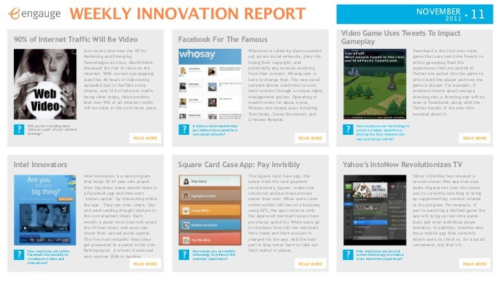 Weekly innovation report 11 11