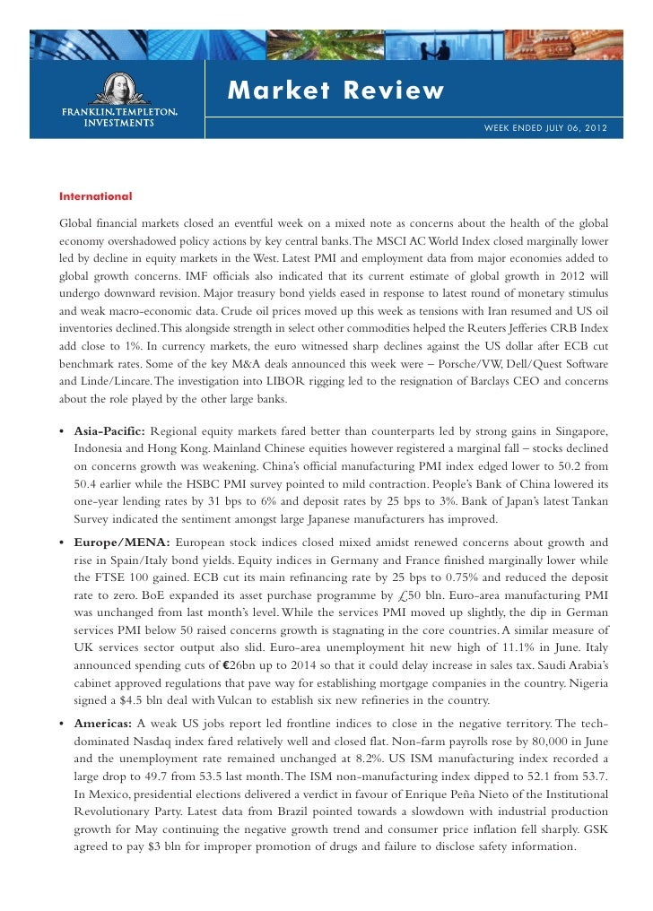Weekly market review   jul 06 2012