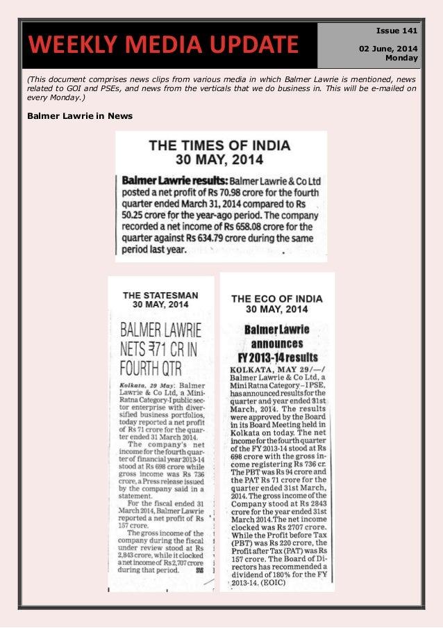 Weekly media update 02.06.2014