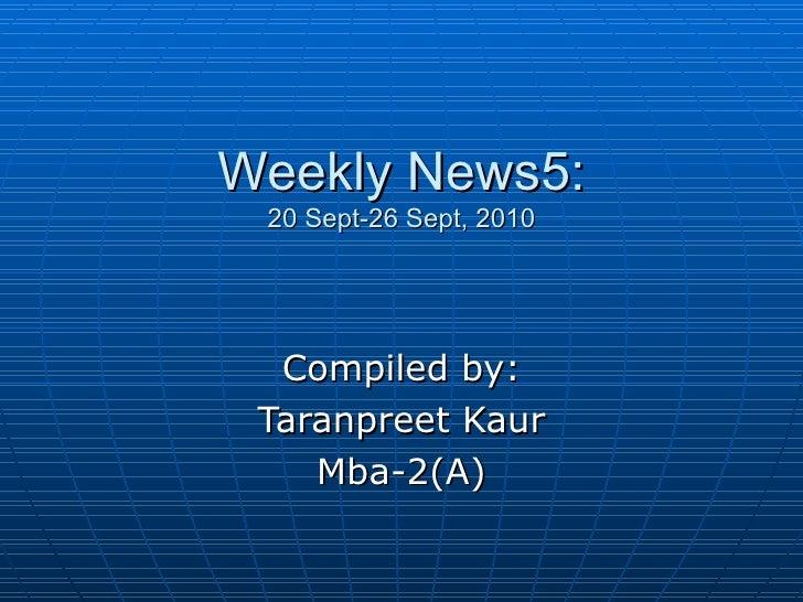 Weekly news 5