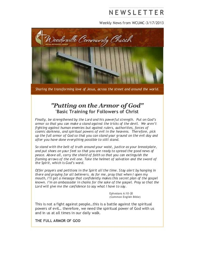 "Weekly News from WCUMC-3/17/2013Sharing the transforming love of Jesus, across the street and around the world.          ""..."