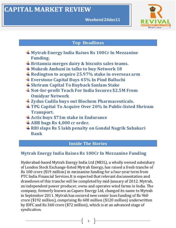 Weekly Business Review