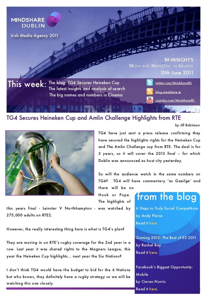 Mindshare Weekly report 10th June 2011