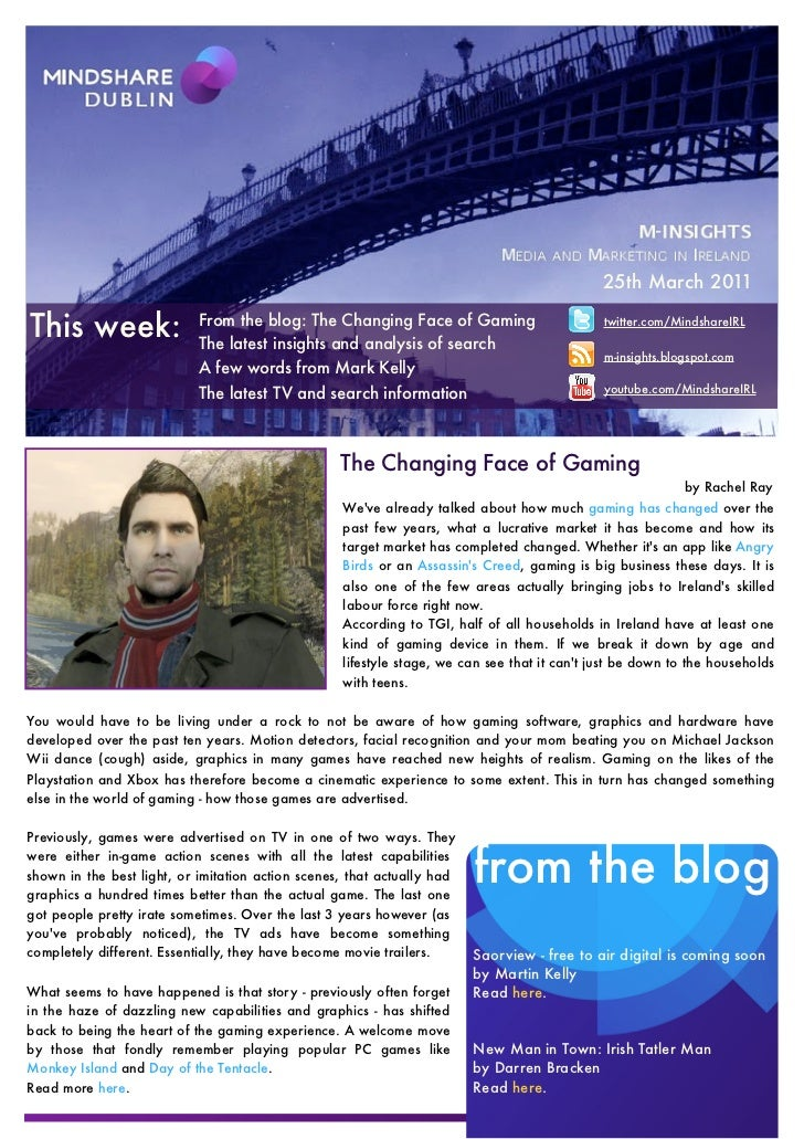 25th March 2011This                      From the blog: The Changing Face of Gaming                          The latest in...