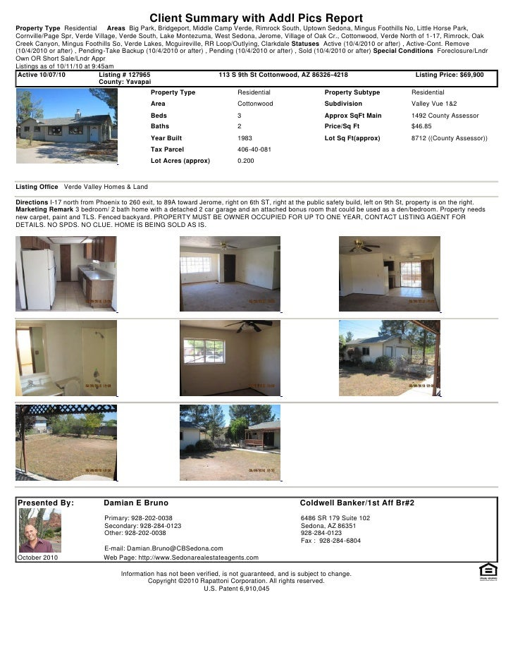 Weekly Sedona and Verde Valley Foreclosure and Short Sale Transaction Report 2010 10-11
