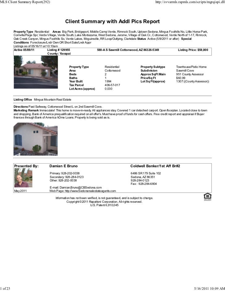 Weekly Sedona Verde Valley Foreclosure Short Sale Transaction Report