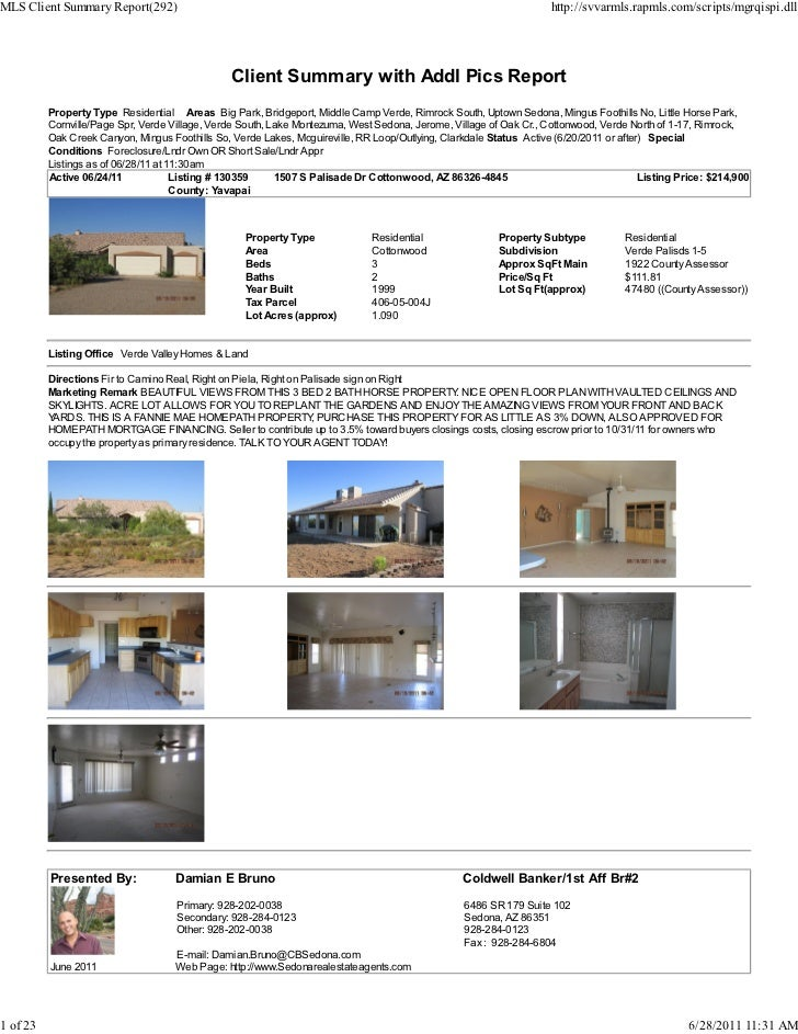 MLS Client Summary Report(292)                                                                                       http:...