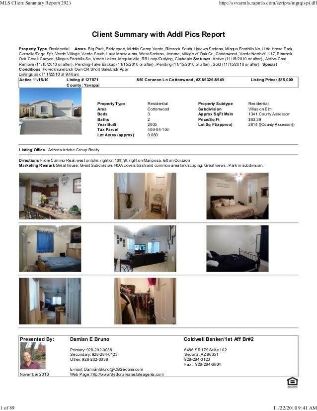 Weekly Sedona Verde Valley Foreclosures Short Sale Transaction Report