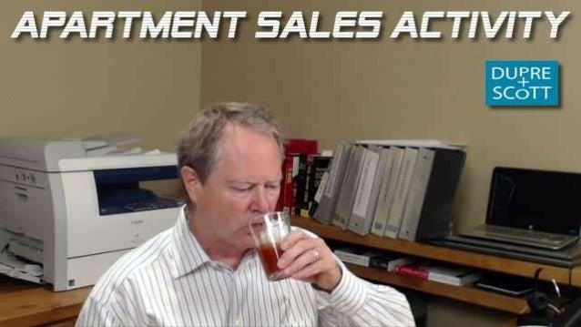 Apartment sales activity