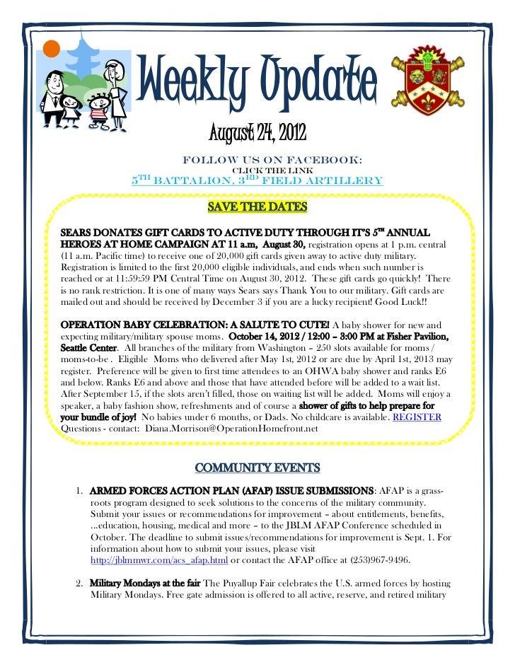 Weekly update 8.24.2012