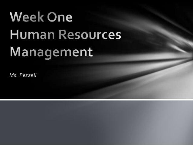 Week one hrm presentation