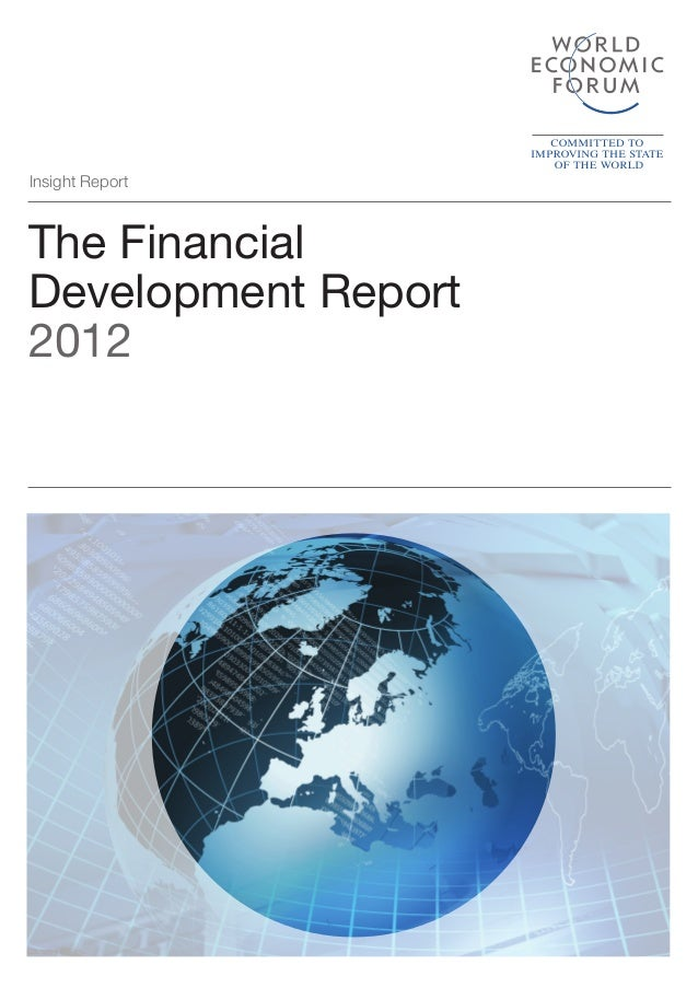 World Economic Forum,  'The Financial Development Report 2012'