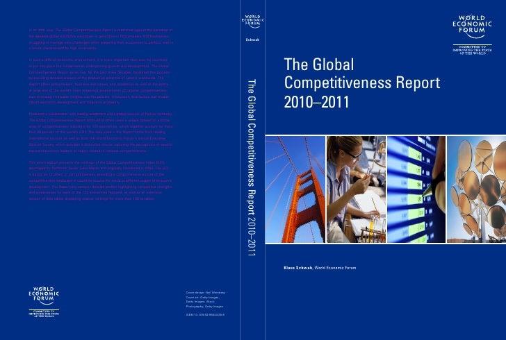 Reporte de la Competitividad Global 2010-2011 por el Foro Económico Mundial (WEF)