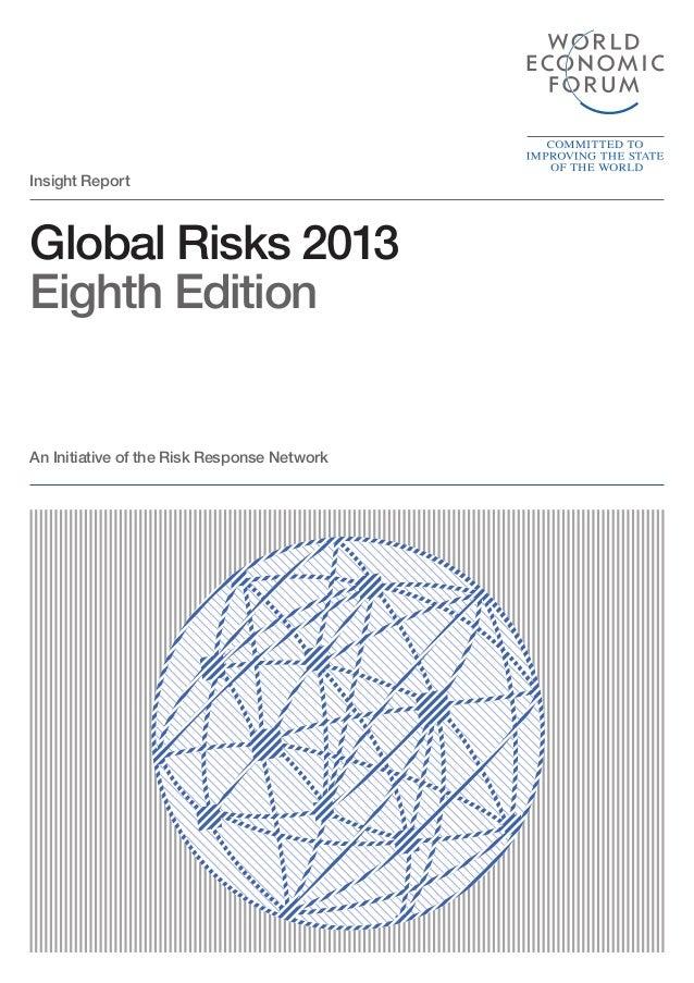 Le rapport 2013 du WEF sur les risques dans le monde