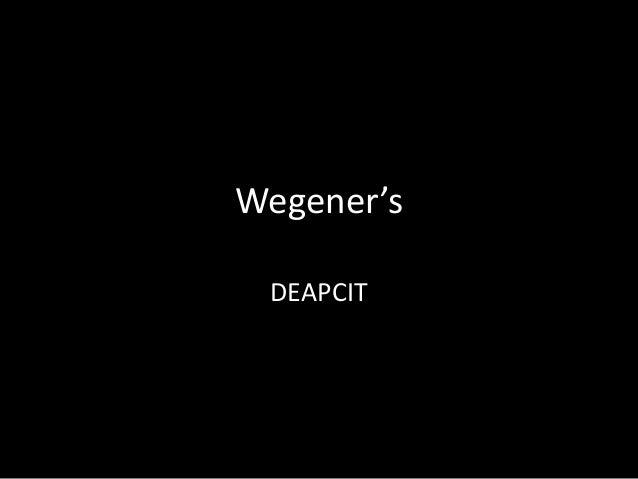 Wegener's