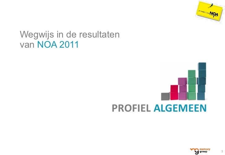 <ul><li>Wegwijs in de resultaten  van  NOA 2011 </li></ul>PROFIEL  ALGEMEEN