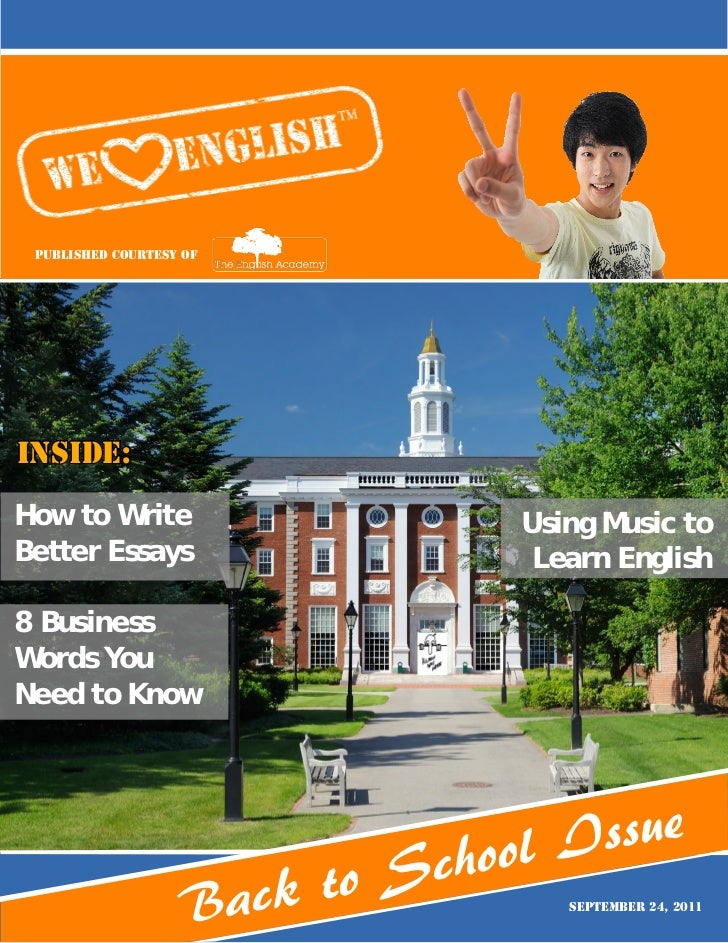 Published Courtesy ofInside:How to Write                       Using Music toBetter Essays                       Learn Eng...