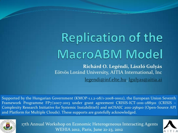 Replication of Macroeconomics from the Bottom-up