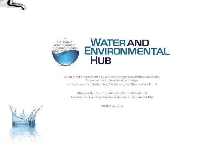 Water and Environmental Hub - AI-EES - Oct 2011