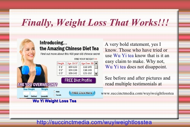 Finally, Weight Loss That Works!!!                              A very bold statement, yes I                             k...