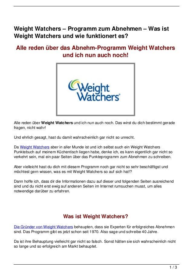 Weight Watchers – Programm zum Abnehmen – Was ist Weight Watchers und wie funktionert es?