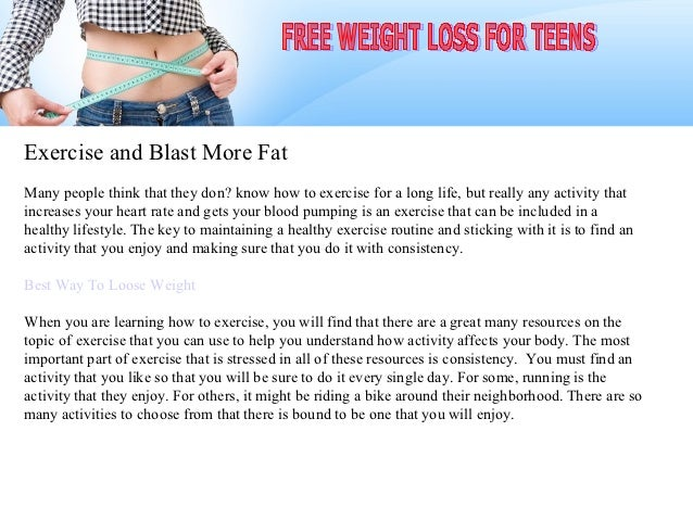 Exercise and Blast More Fat
