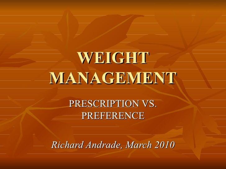 Affect / Weight Management
