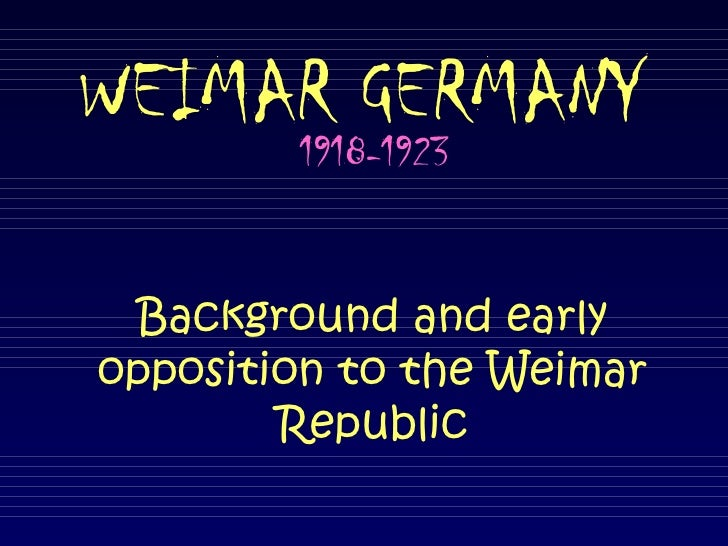 Weimar Germany problems up to 1923