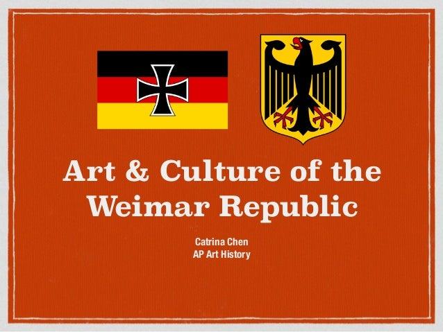 Art & Culture of the Weimar Republic