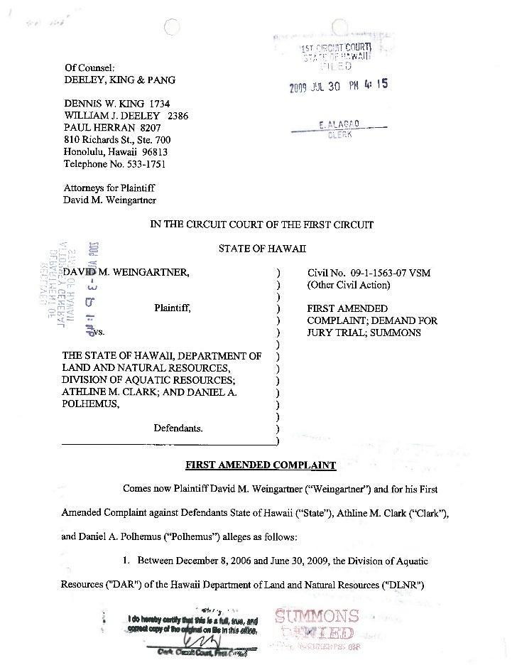 Weingartner   first amended complaint