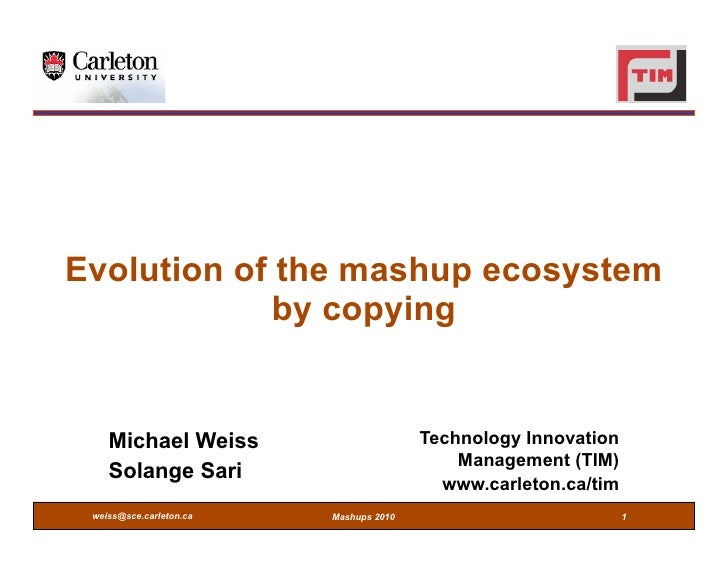 Evolution of the mashup ecosystem by copying