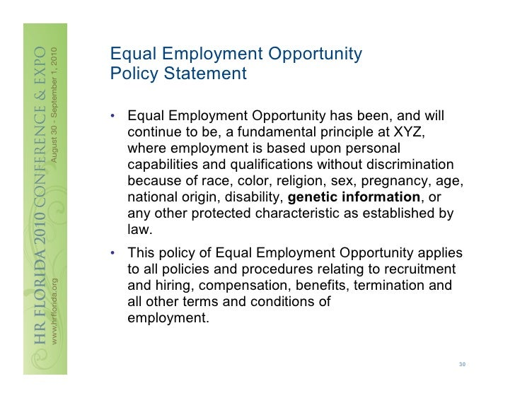 equal employment opportunity commission process essay At first glance, one might come to the conclusion that the equal employment opportunity commission has essentially replaced the arbitration process between employers and employees.