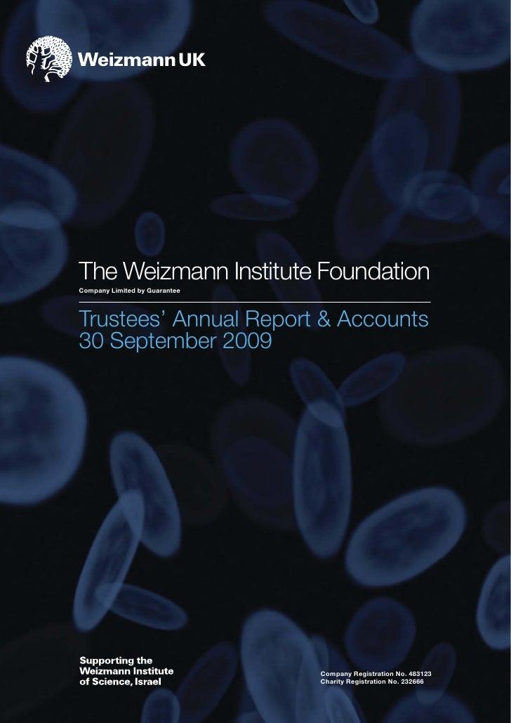 Weizmann Uk Annual Accounts Final