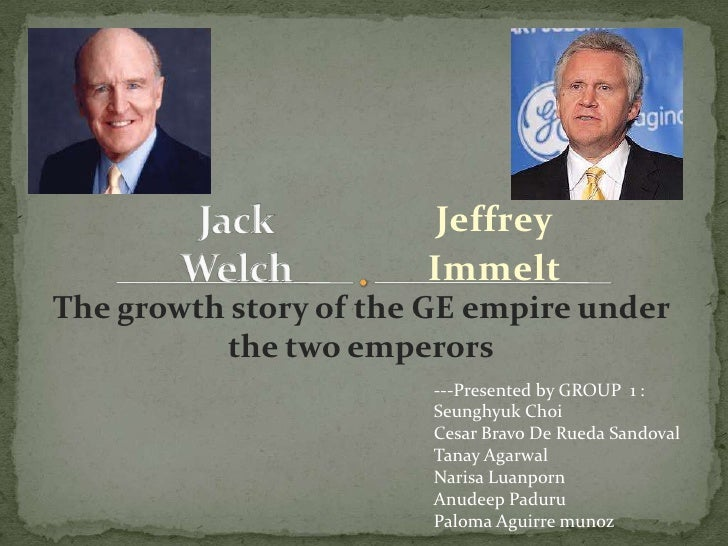 ge case analysis welch vs immelt Corporate strategy analysis: general electric co  the essay  critical analysis  of immelt's strategic approach in section four 1 the jack welch period (1981– 2001) when jack welch took up his post as ge's ceo in 1981 he embarked  of  ge's less profitable businesses and retention or acquisition of.