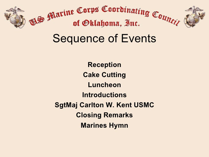 Usmc Cake Cutting Sequence Of Events