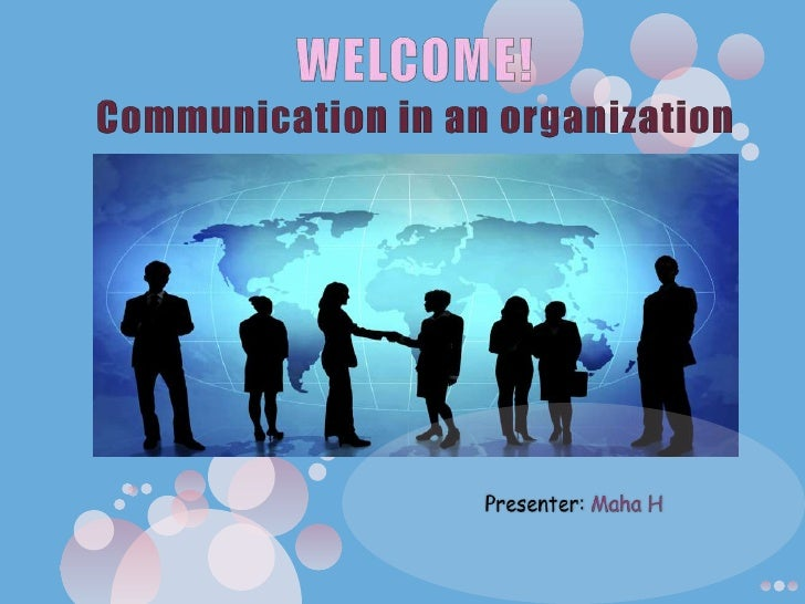 Communication in an organization
