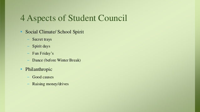 Student Council presentation