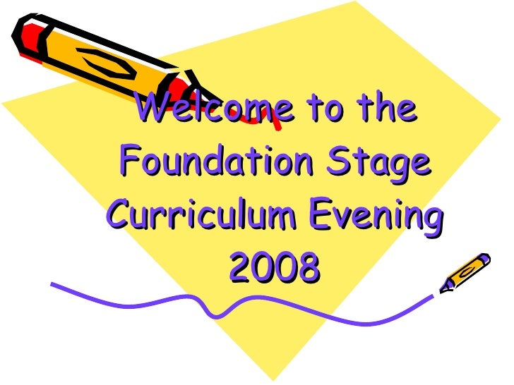 Welcome to the Foundation Stage