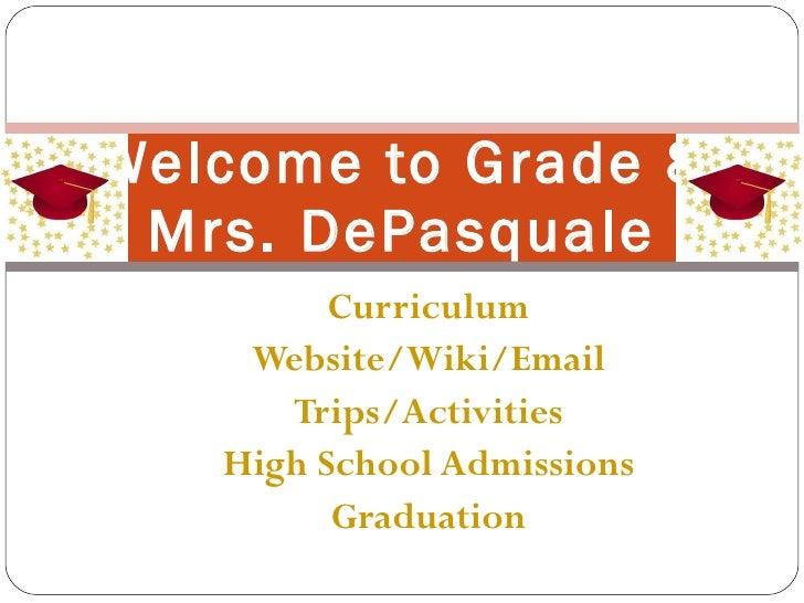 Welcome grade 8