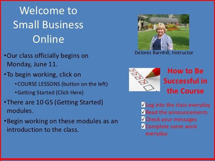 NCVPS Welcome to Small Business Online