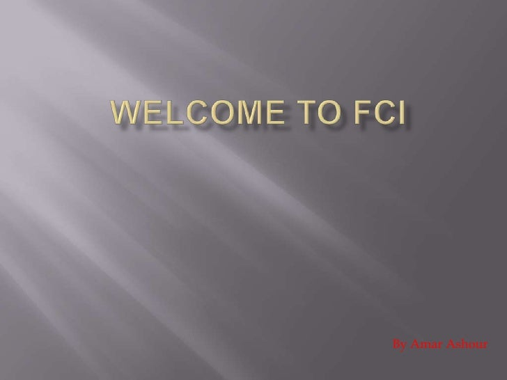 Welcome to fci