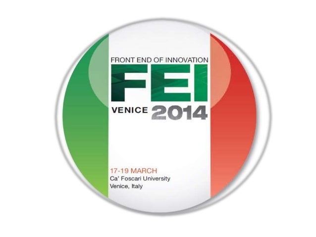 Welcome to Front End of Innovation Venice Opening Chairperson Remarks