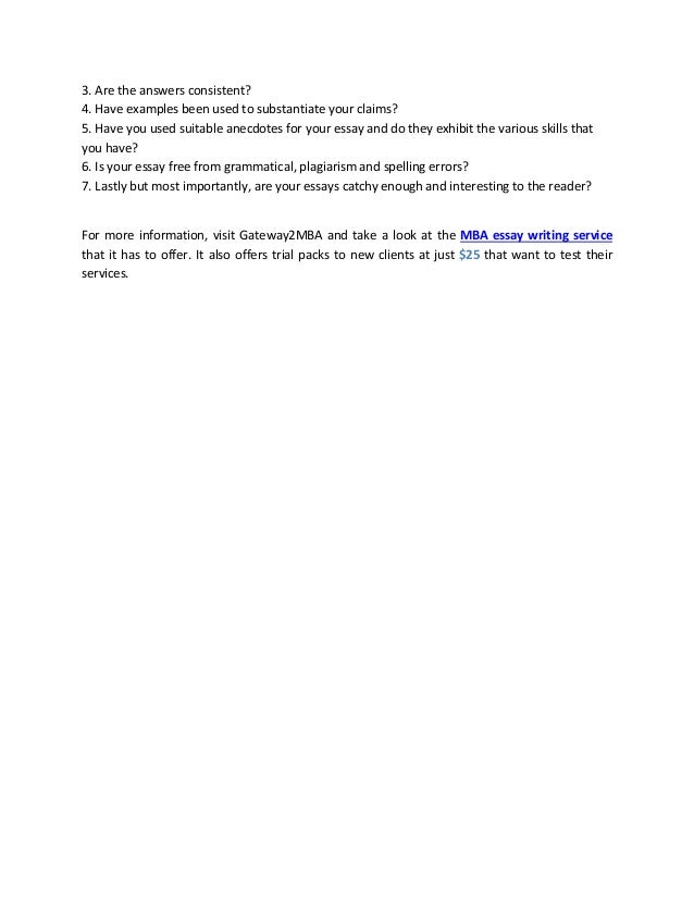 Mba Entrance Essay Examples