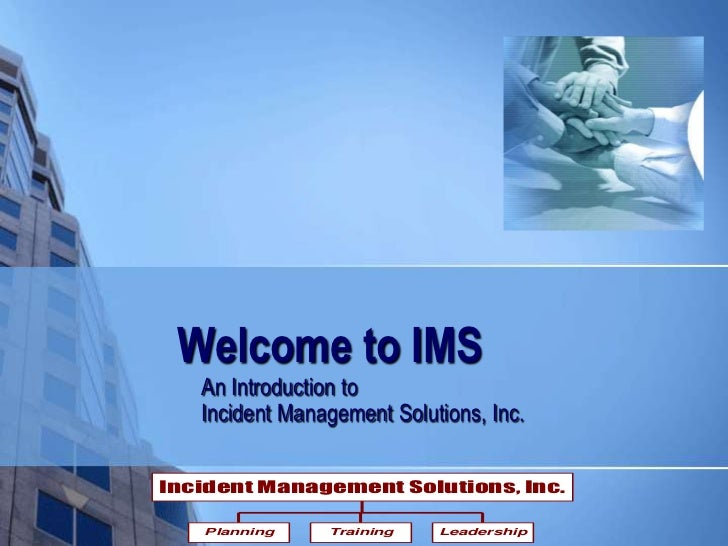 Welcome To IMS