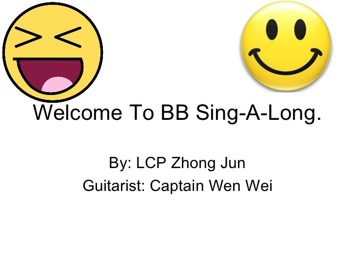 Welcome to my sing a-long!! (2) (2)