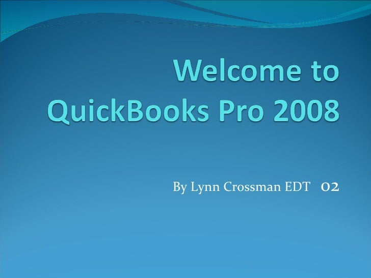 Welcome to quick books