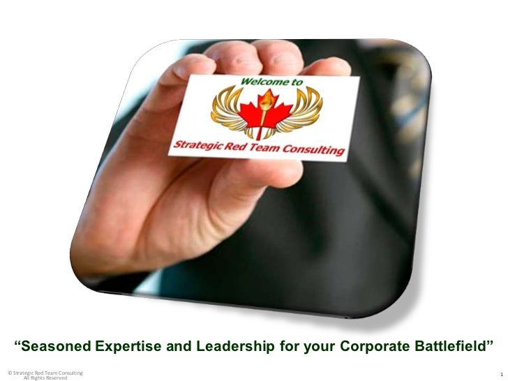 """Seasoned Expertise and Leadership for your Corporate Battlefield""                                                  1© Str..."